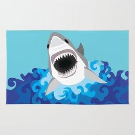 Great White Shark Attack Rug