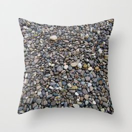 What Stories You Could Tell... Rocks of Jasper Beach Throw Pillow