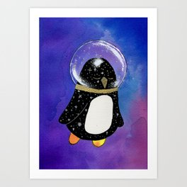 Space Penguin Art Print