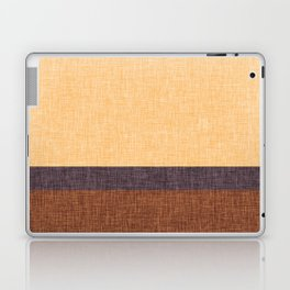 Simple Stripe Abstract with Burlap Pattern Laptop & iPad Skin