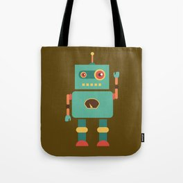 Fun Robot Toy Graphic Tote Bag
