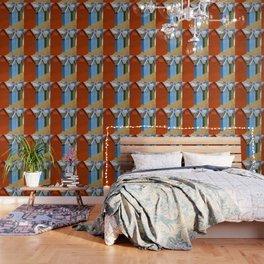 Multi-coloured beach Huts Wallpaper