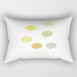 The Sound of Silence Rectangular Pillow