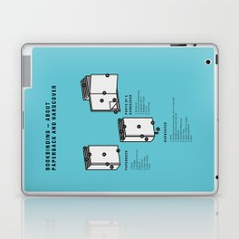Bookbinding – About Paperback and Hardcover (in English) Laptop & iPad Skin