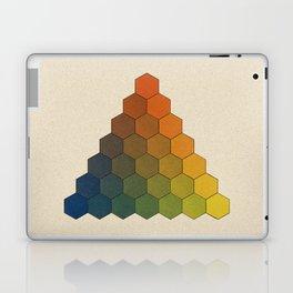 Lichtenberg-Mayer Colour Triangle (Opera inedita - Vol. I, plate III), 1775, Remake, vintage wash Laptop & iPad Skin