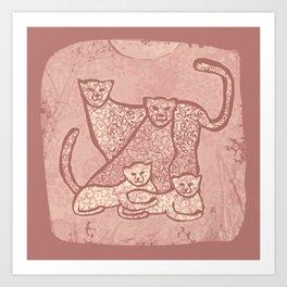 Family Cheetahs Art Print