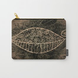 ReLeaf Doodle Brown Carry-All Pouch