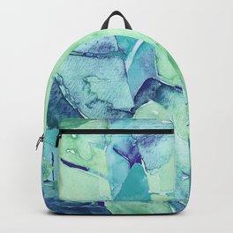Banana Tree Leaves | Tropical  BLUE Watercolor Backpack