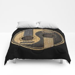 Aged Vintage Acoustic Guitars Yin Yang Comforters