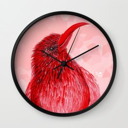 Hello There Red Bird Wall Clock