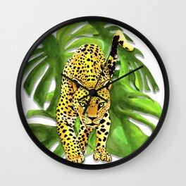 panther jungle Wall Clock