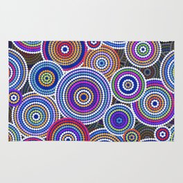 Colorfull Aboriginal Dot Art Pattern Rug
