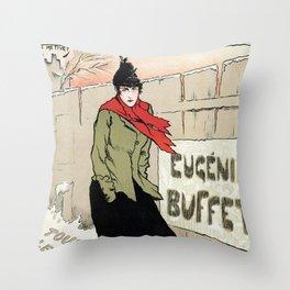 Eugénie Buffet winter Throw Pillow