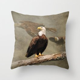 Dreaming of Freedom Bald Eagle Throw Pillow