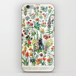 Adolphe Millot - Fleurs A - French vintage poster iPhone Skin