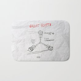 Great Scott, It's a Flux Capacitor - Back to The Future Bath Mat
