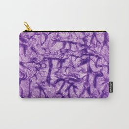 Purple Waves and Ripples Textured Wavelet Paint Art Carry-All Pouch