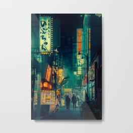 Tokyo Nights / Memories of Green / Blade Runner Vibes / Liam Wong Metal Print