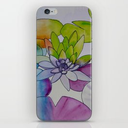 Water Color Lily iPhone Skin