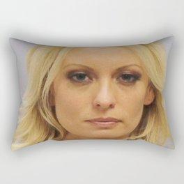 Stormy Daniels Mug Shot Rectangular Pillow
