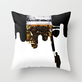 Paint of beer Throw Pillow