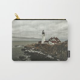 Portland Headlight in winter Carry-All Pouch