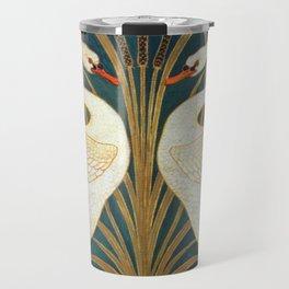 Walter Crane Swan, Rush And Iris Travel Mug