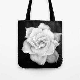 Gardenia Black and White Tote Bag