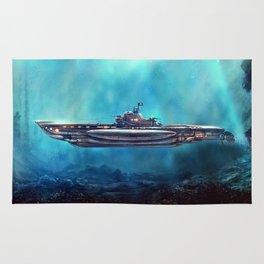 Pirate Submarine Rug