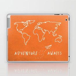 Adventure Map - Retro Orange Laptop & iPad Skin