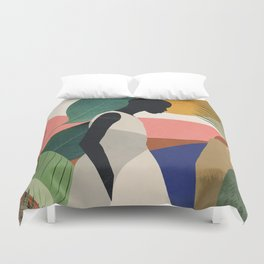 Tropical Girl Duvet Cover