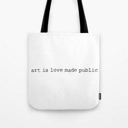 Art is love made public - Sense8 Tote Bag
