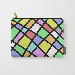 Crazy Pastel Paving - Abstract, pastel coloured mosaic paved pattern Carry-All Pouch