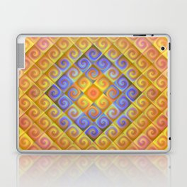 Spirals in Squares Laptop & iPad Skin