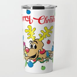 Reindeer Travel Mug