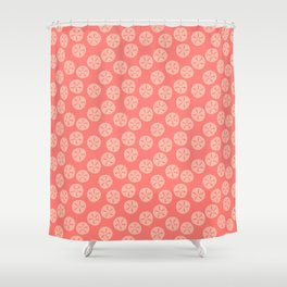 Coral Sand Dollars Shower Curtain