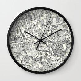 pencil parcels ivory Wall Clock