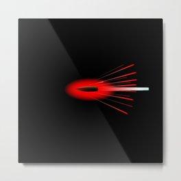 Red Hot Bullet Metal Print