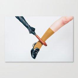 Umbrella and Leg Canvas Print