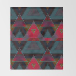 Triangle Abstract Pattern Throw Blanket