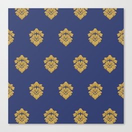 Free Marches (Blue) Canvas Print