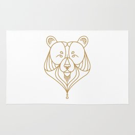Gold Bear Two Rug