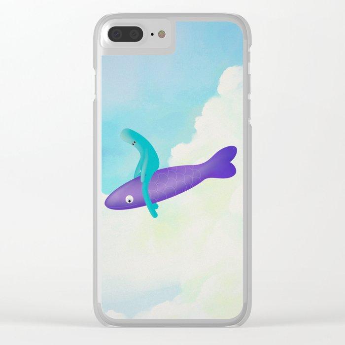 p e s c e v o l a n t e Clear iPhone Case
