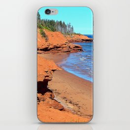 Red Cliffs of PEI iPhone Skin