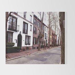 Quaint Philadelphia Streets Throw Blanket