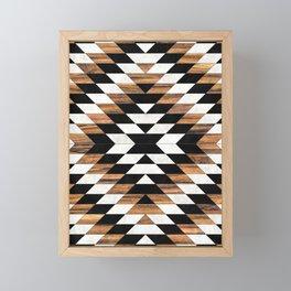 Urban Tribal Pattern No.13 - Aztec - Concrete and Wood Framed Mini Art Print