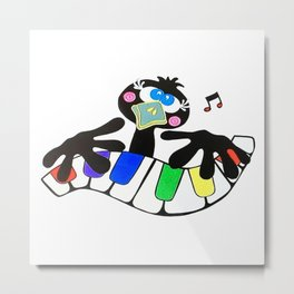 Music to crow about Metal Print