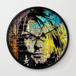 Nirvana art on dictionary Wall Clock
