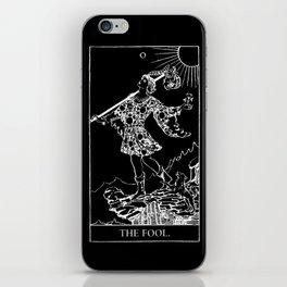 0. The Fool- White Line Tarot iPhone Skin
