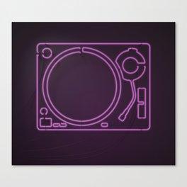 Neon Turntable 1 - 3D Art Canvas Print